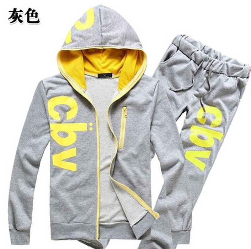 2015 New Style CBV New Fashion Casual Mens Printing Sports Track Suit Athletic Apparel Sportswear Set(China (Mainland))
