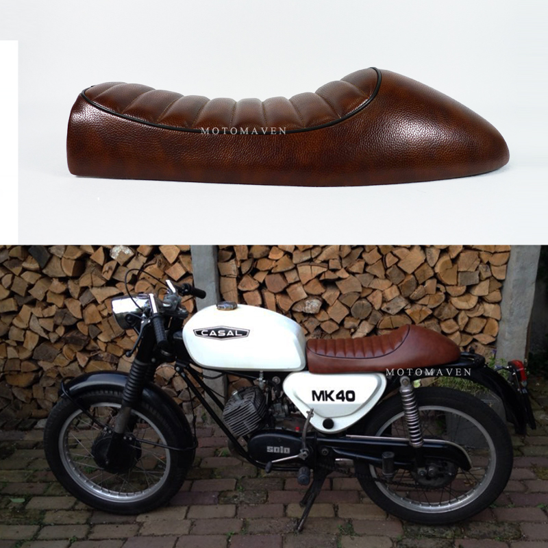 Free Shipping BRAND NEW 1976 1977 cg125 seat CB 250 350 550 650 BROWN CAFE RACER Vintage motorcycle SEAT SPORTSTER Bike