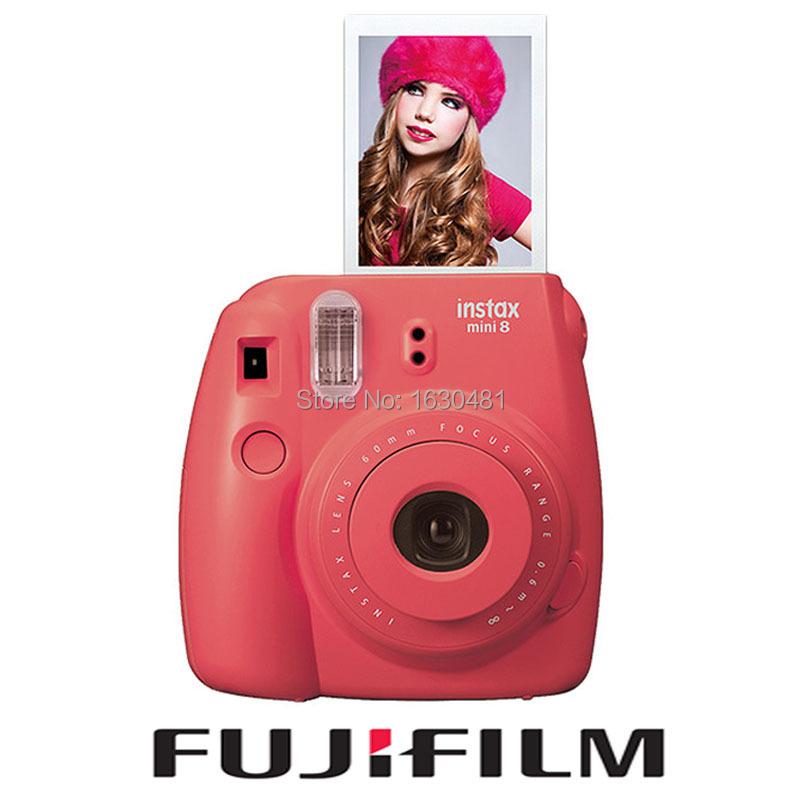 Fuji Mini 8 Camera Fujifilm Fuji Instax Mini 8 Instant Film Photo Camera New Red Raspberry Color Instant Camera