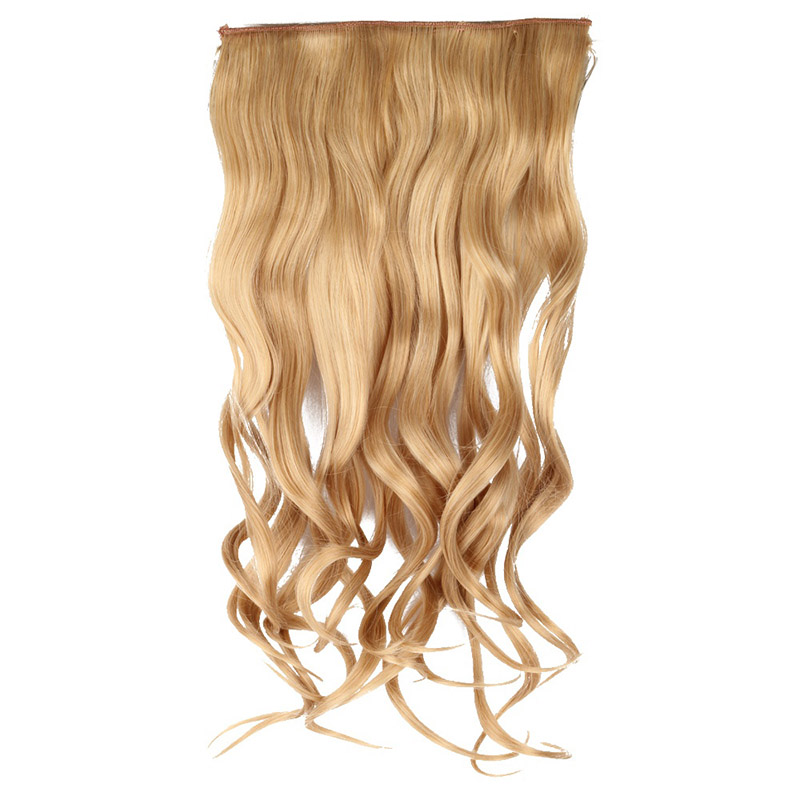 Fashion Women's 5 Card Volume Extensions One Piece Seamless Thickened Hair Curtain Clip Wig Pieces HB88(China (Mainland))