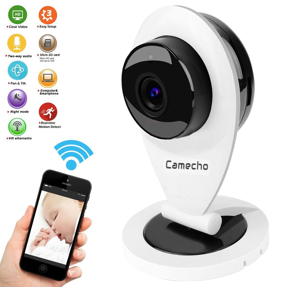 Camecho K8 720P HD Mini Wifi IP Camera Wireless Smart Baby Monitor Network CCTV Security Home Protection Mobile Remote - Shenzhen Hikit Technology Co., Ltd. store