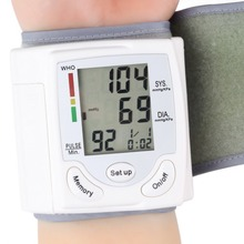 ome Automatic Digital Wrist Cuff Blood Pressure Monitor Arm Meter Pulse Sphygmomanometer Heart Beat Meter LCD Display 2015 New(China (Mainland))