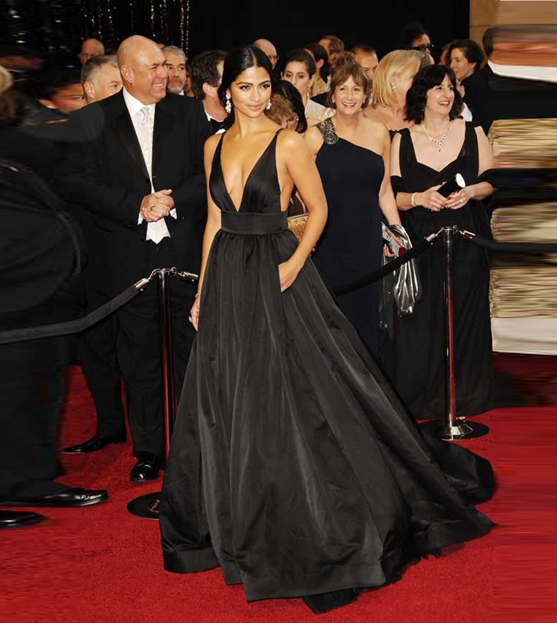 Buy vestido longo camila alves red carpet black sexy celebrity dresses backless - Black and white red carpet dresses ...