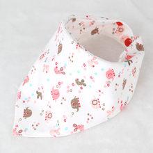 Baberos de bebé de alta calidad triangular doble capas de algodón baberos personajes de dibujos animados estampado Animal baberos(China)