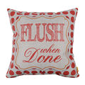 LINKWELL Free Shipping 45x45cm Flush When Done Red Round Dot Geometry Family Words Linen Cushion Covers