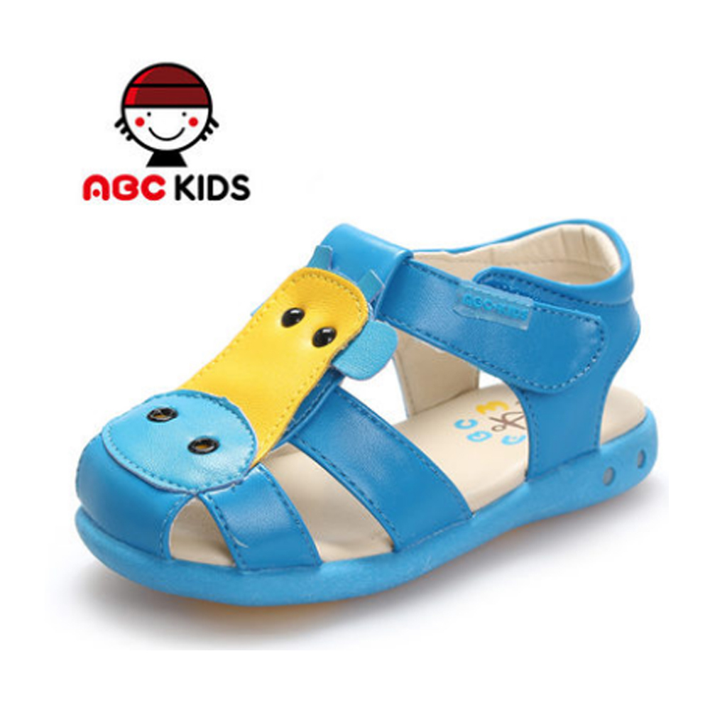 ABC KIDS Baby Shoes Boys Leather Sandals 2015 Summer Style Children's Footwear Soft Bottom Comfortable Slip Resistant Kids - shoes store