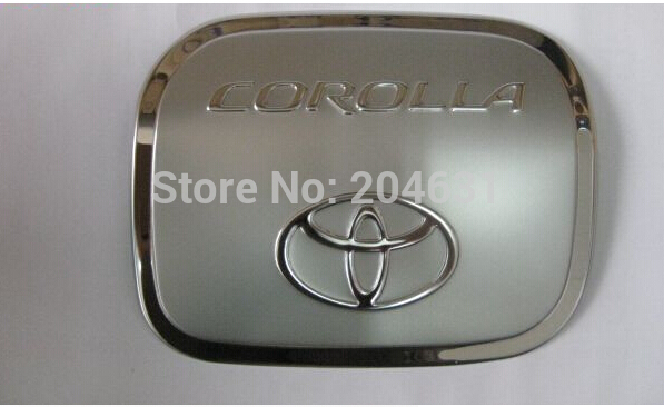 1pc for 2008 2013 toyota corolla stainless steel tank cover fuel tank cap aut. Black Bedroom Furniture Sets. Home Design Ideas