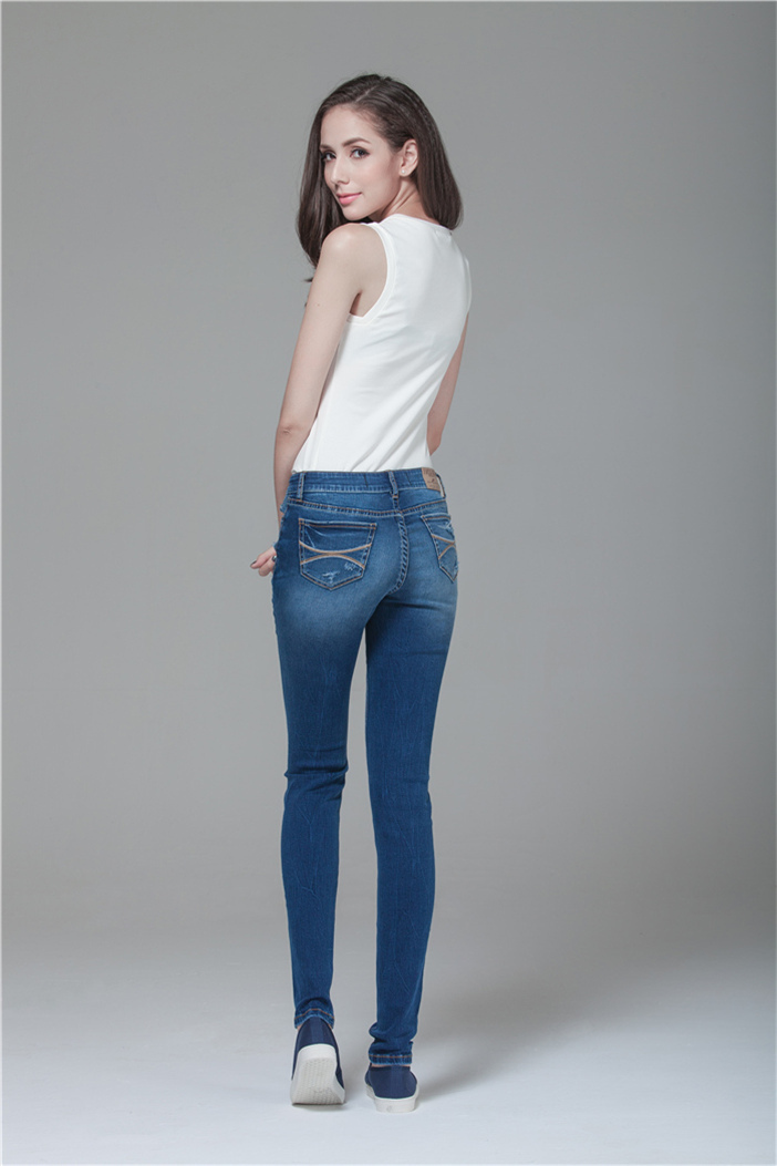 Pent Style Vogue denim jeans back pocket embroidery-in Jeans from Womenu0026#39;s Clothing u0026 Accessories ...