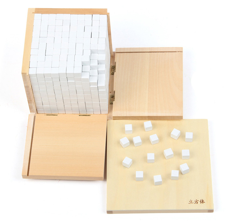 Baby Toy Montessori Volume Box with 1000 Cubes for Early Childhood Educational Preschool Training Kids Toys Wooden Blocks(China (Mainland))