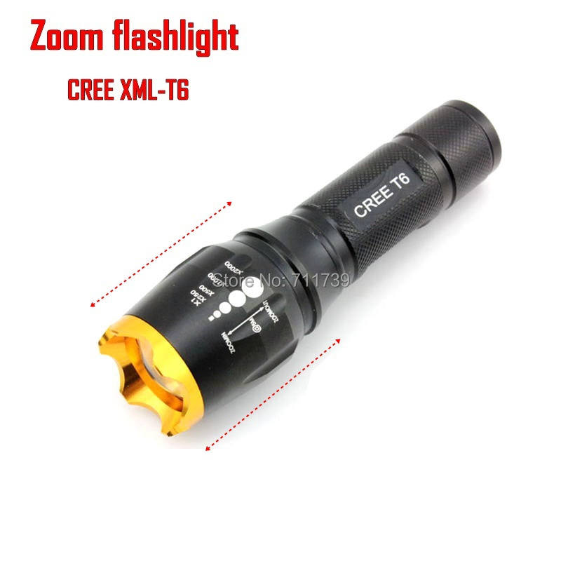 AloneFire Waterproof CREE XM-L T6 2200 Lumen Tactical Zoom Led Flashlight Torch Light For3xAAA/18650 Battery led cree - SK108<br><br>Aliexpress