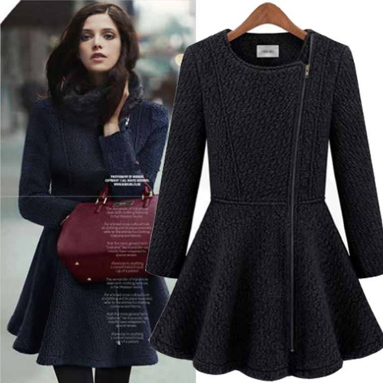 Short Dress Coat | Down Coat