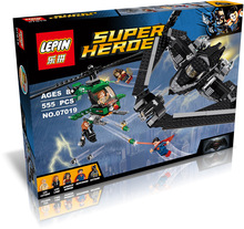 Buy LEPIN07019 Super Heroes Sky High Battle Batman VS Superman Marvel Dawn Justice Comics Building Blocks for $22.46 in AliExpress store