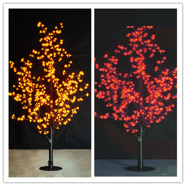 2014 colorful led cherry blossom tree light, led cherry light height 1.5m(China (Mainland))