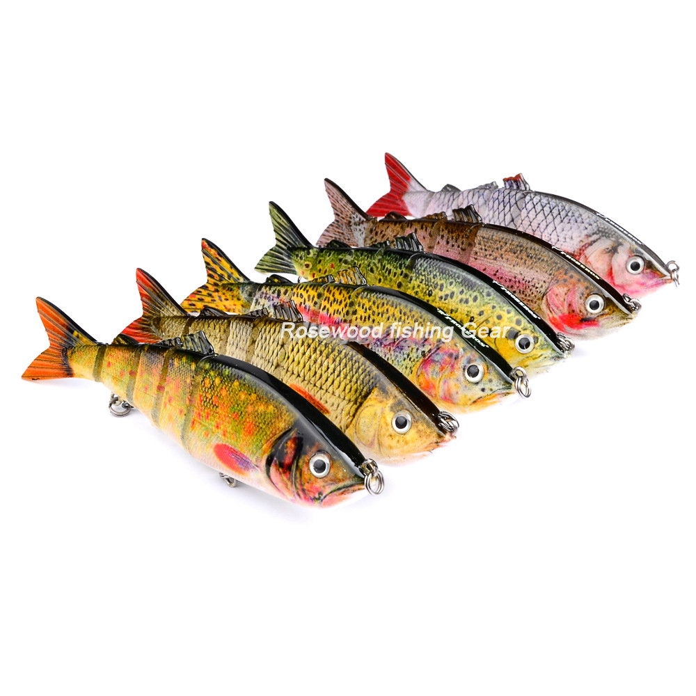 19g 12cm jointed swimbait crankbait fishing lure ABS hard plastic crankbait swim bait minnow fishing lure set 6pcs/lot pesca(China (Mainland))