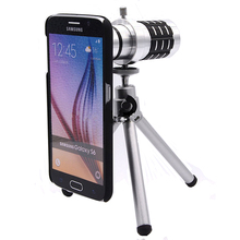 Buy Orbmart Aluminum 12X Optical Zoom Telescope Camera Lens Samsung S6 S6 Edge Plus S7 S7 Edge Protective Back Case for $16.89 in AliExpress store