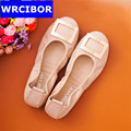 Flat Loafers Women Genuine Leather Mother Shoes Big Size 34 43 2017 Moccasins Women s Soft