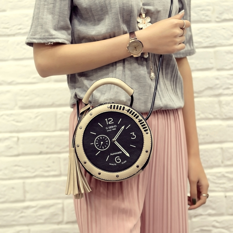 Women Leather Shoulder Messenger Bags Famous Watch Cartoon Casual Style Fashion 2016 Popular Hot Sale(China (Mainland))