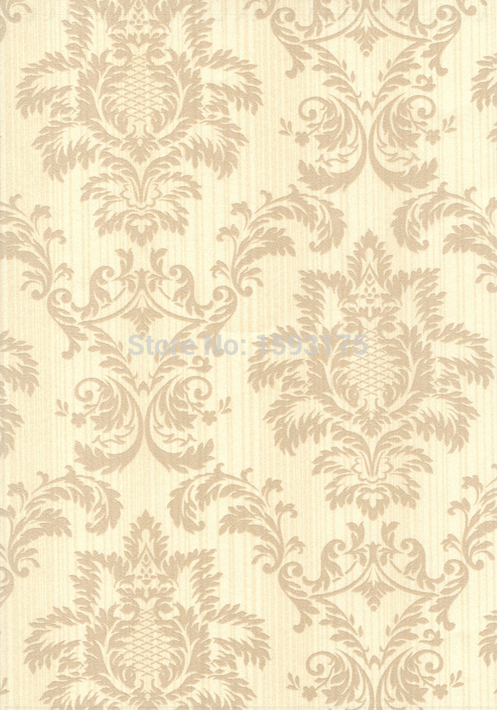 Best price european flock non woven metallic floral damask for Modern wallpaper for walls designs