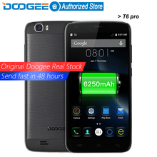 DOOGEE T6 pro mobile phones 5.5Inch HD 3GB RAM+32GB ROM Android 6.0 Dual SIM MTK6753 Octa Core 13.0MP 6250mAH WCDMA LTE WIFI GSM(China (Mainland))