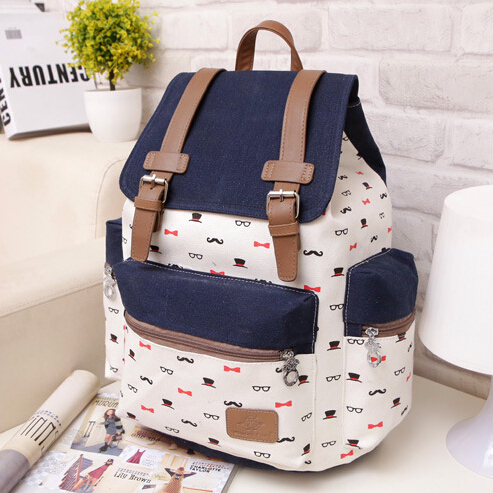 Women man canvas shoulder bag 2015 new fashion school bags teenagers students backpack travel girls boys good quality - Don't even think about it store
