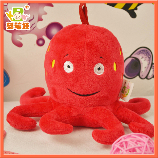 Octopus plush toy/plush toys hanging ring rattle for baby,plush baby toys