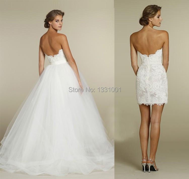Corset Wedding Dress With Detachable Skirt Images