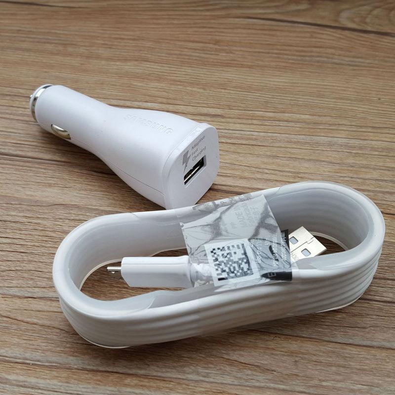 100% Original Auto Universal Single Micro USB Car Charger For Samsung Galaxy Note4 S6 Edge Adaptive Fast Charging Adapter 5V 2A(China (Mainland))