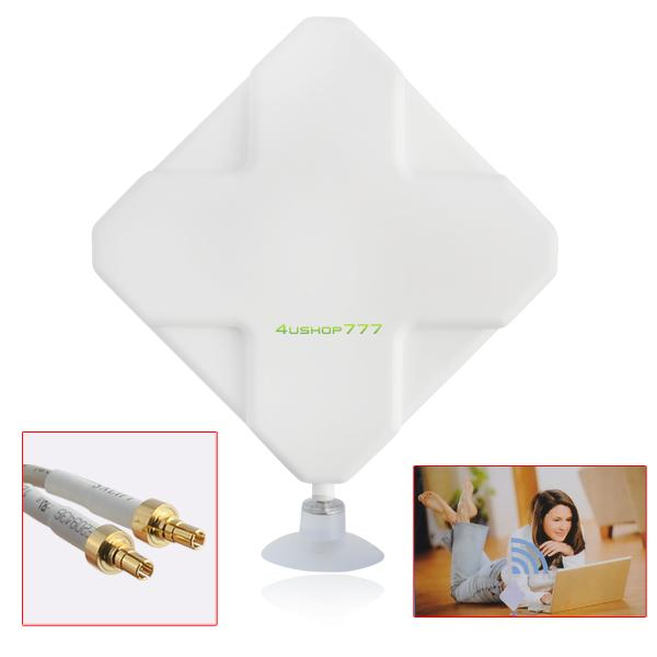 White 4G 35dBi External Antenna CRC9 Connector Signal Amplier Booster 2M Cable EL4528(China (Mainland))