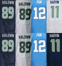 11 harvin jersey 3 Russell Willsons 25 Richard Sherman Tyler Lockett 89 Doug Baldwin 31 Kam Chancellor jersey(China (Mainland))