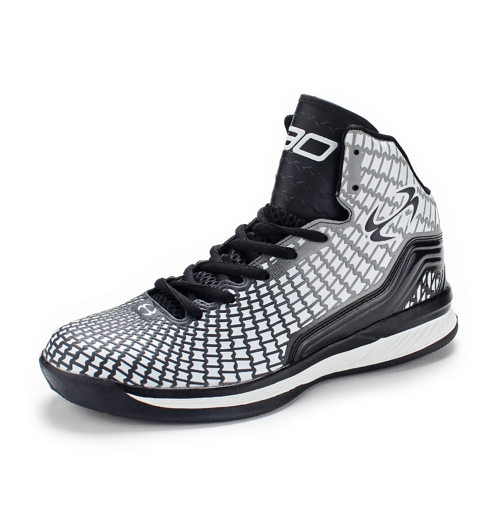Men Adult fashion High Quality Sneakers Black and Whit Basketball Boots Indoor Basketball Shoes #BS2