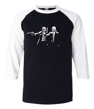 Buy Banksy Star Wars Pulp Fiction hip hop tshirt 2017 summer new 3/4 sleeve t shirts fashion casual raglan men t-shirt 100% cotton for $7.80 in AliExpress store