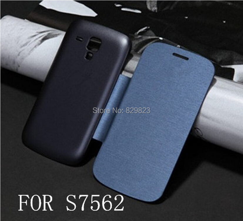 Samsung Galaxy S Duos 7562 S7560 7560 Flip Leather Back Cover Cases Battery Housing Case - SHENZHEN LIGA TRADE CO., LTD store