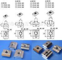 Крючок T Sliding Nut t 100pcs/lot, M5 2020 6 20TN-M5