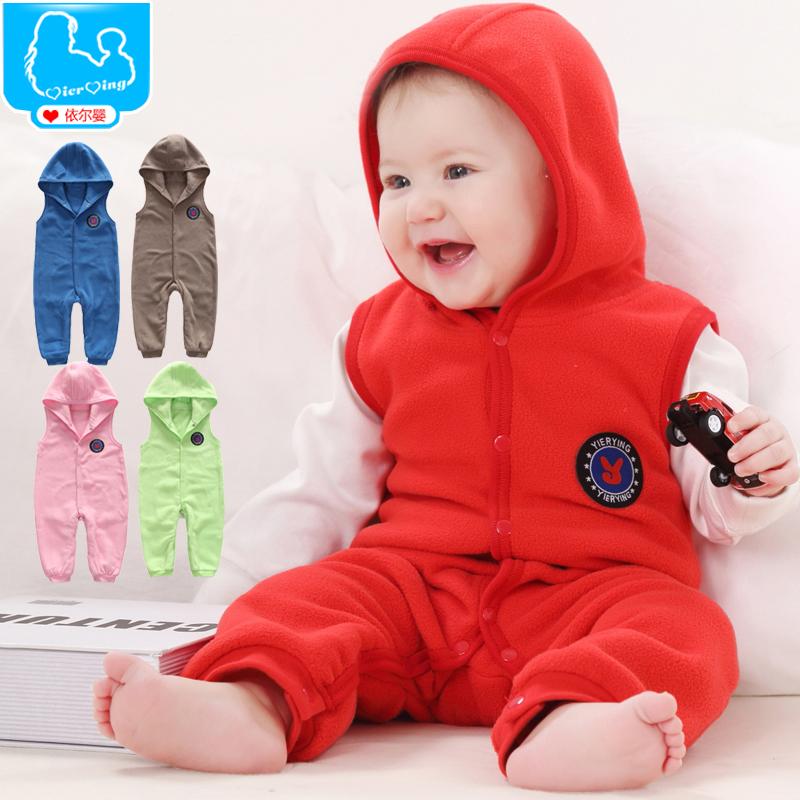 Autumn Winter Baby Rompers Warm Polar Fleece Baby Jumpsuits Vest Hooded Newborn Baby Boys Girls Clothes<br><br>Aliexpress