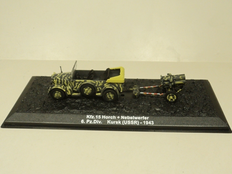 Ixo 1:72 kfz.15 Horch + Nebelwerfer in the German World War II rocket suit card(China (Mainland))
