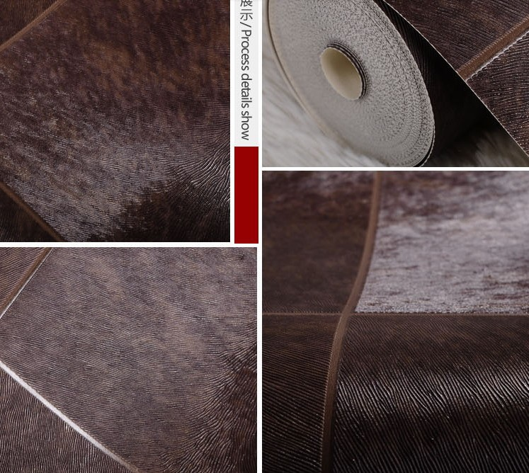 Texture Design By Otters Skin pvc Wallpaper Roll Living Rome TV Background Wall Black Decoration(China (Mainland))