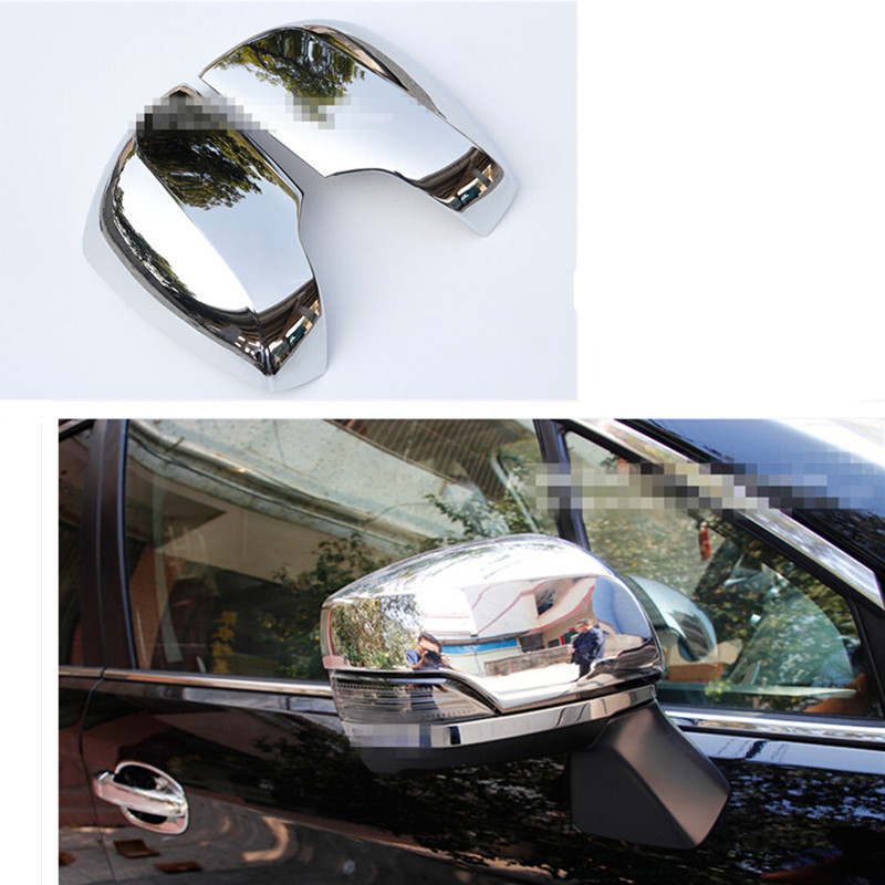 Car styling side mirror cover rearview mirror cover for subaru xv 2009 2010 2011 2012 2013 2014 2015 abs chrome 2pcs per set