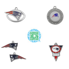Buy Skyrim 10pcs Rugby Football New England Patriots Zinc Alloy Enamel Crystal Charms Pendants for $13.68 in AliExpress store