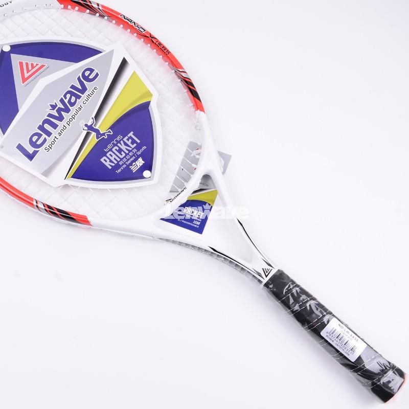 2016 Female Tennis Training Aluminum Carbon Fiber Tennis Racket Lenwave tennis racket