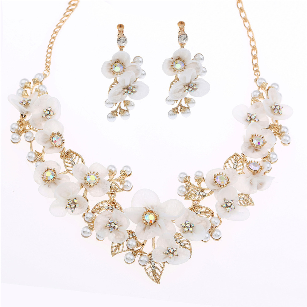 ab color high grade shiny rhinestone necklace bride