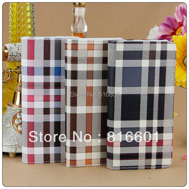 Free Shipping 2015 new Plaid wallet male single zipper wallet women's PU leather wallet medium-long clutch card holder