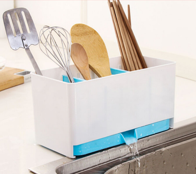 Creative kitchen fast draining water storage holder storage rack Cutlery sponge holder dish multi-function rack(China (Mainland))