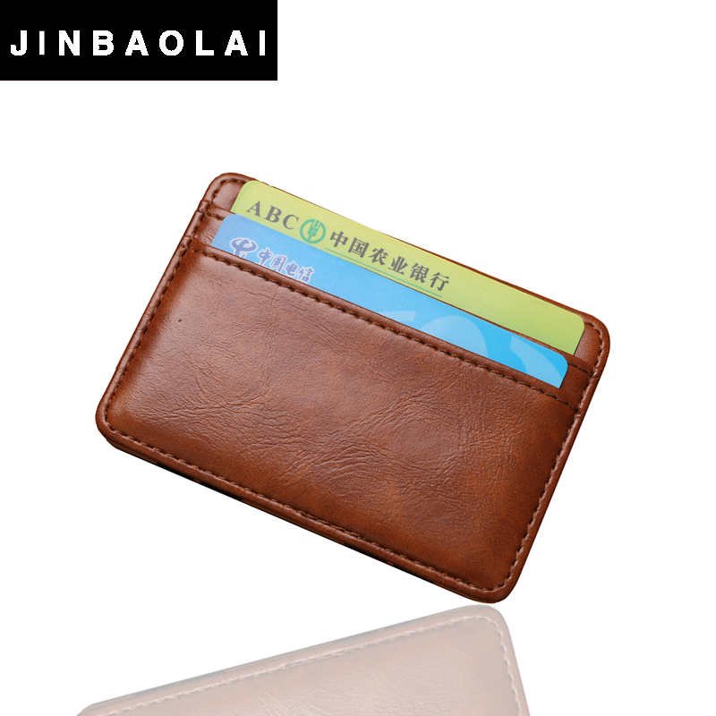 2016 fashion Vintage Style High quality PU leather magic wallet men's mini multifunctional card holder brand magic wallets(China (Mainland))
