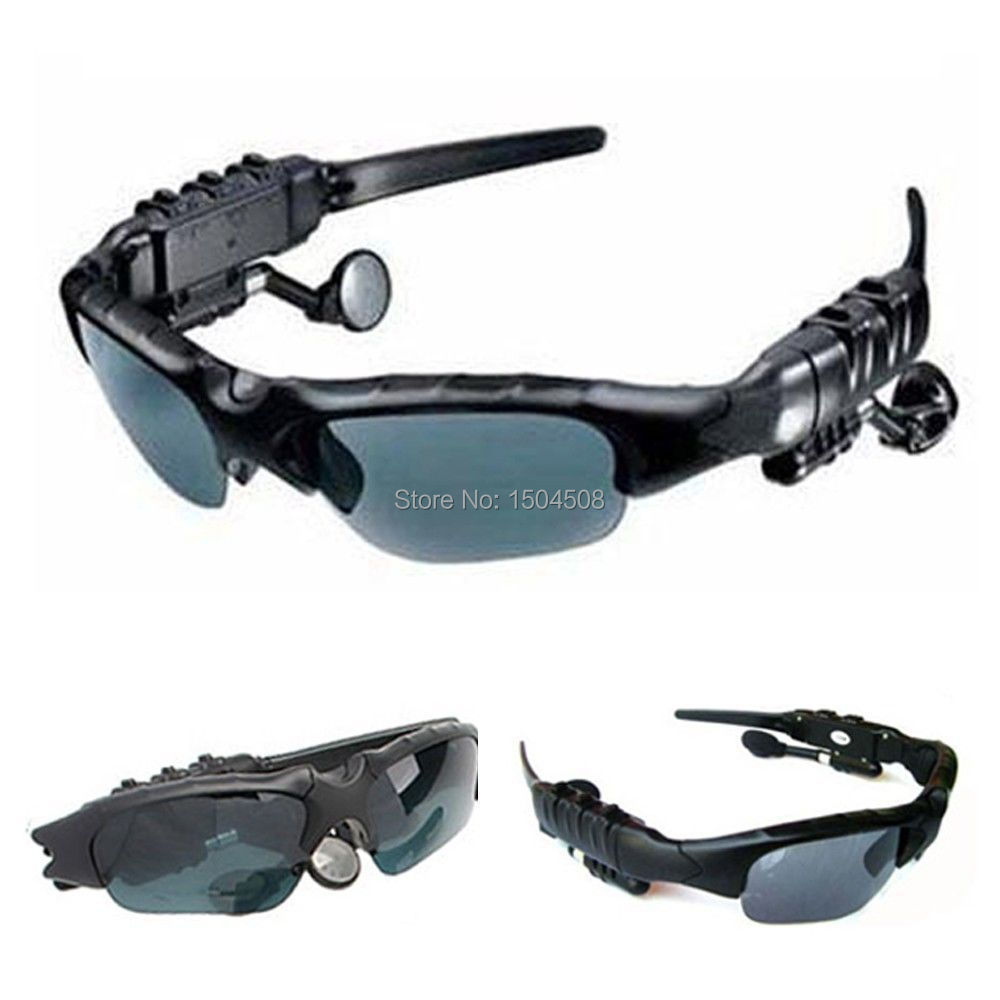 Free shipping MP3 Player Sunglasses Bluetooth Headset Headphones for iPhone Sams
