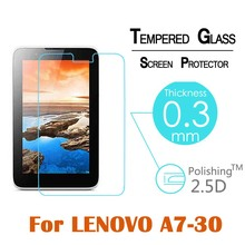 2016 Tempered Glass Front Screen Protector Film For Lenovo A7-10 A7-30 7″ 9H 2.5D LCD Film Clear Screen Protect Cover Guard