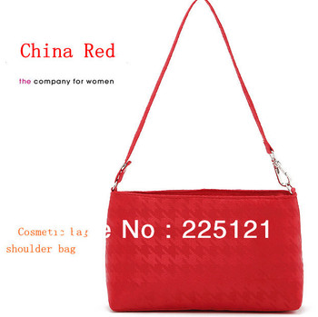 2013 China red obscure plover small purse ladies cosmetic bag new shoulder bag bag with handle