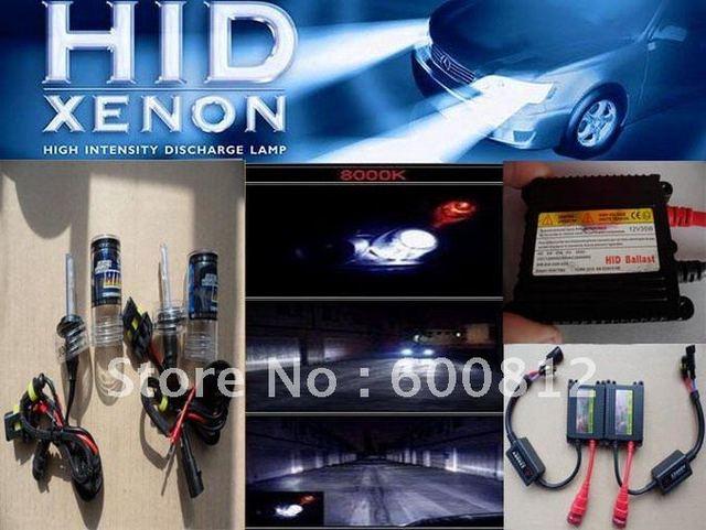 FREE SHIPPING Auto XENON HID Conversion Kit  12v DC 35W  H7 8000K car HID xenon kit xenon Bulbs lamp bulb Slim ballast  H7-8K IC