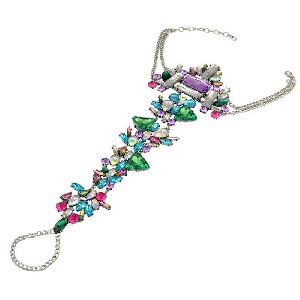 2016 Новая Мода Роскошные Чешские Цыганский Шарм Кристалл Rhinestone Цветочный Летний Бичи Ножной Браслет для Женщин Девушки Ювелирные Изделия