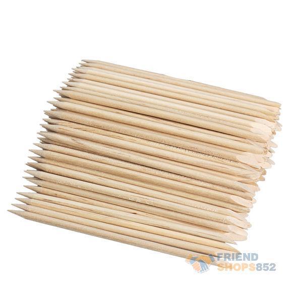 100pcs Nail Art Orange Wood Stick Cuticle Pusher Remover for Manicures KSKS(China (Mainland))
