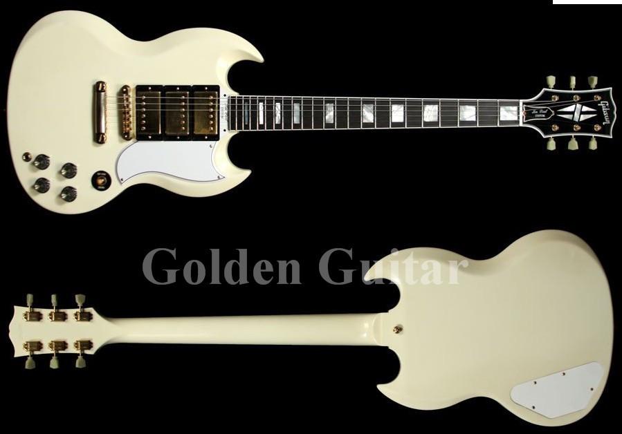 best Guitar Musical Instruments Custom SG cream color Ebony fingerboard guitar classic electric Guitar(China (Mainland))